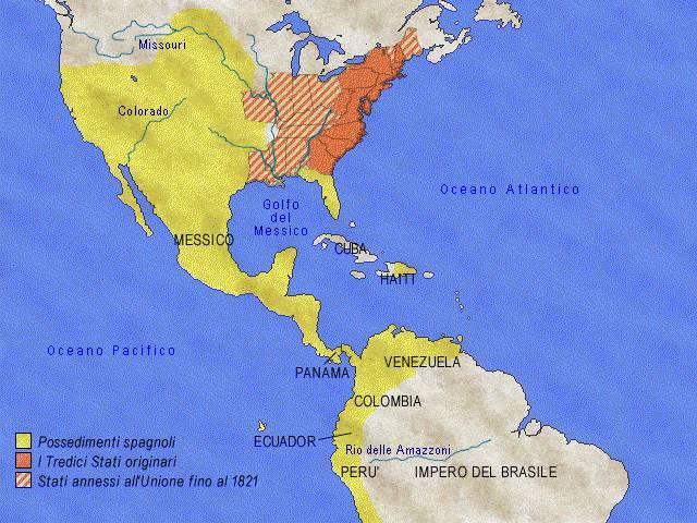 Xviii xix sec la formazione degli stati uniti e l for Interno delle piantagioni del sud